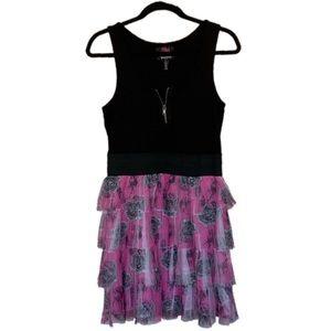 Disney XL Alice in Wonderland Tiered Ruffle Dress